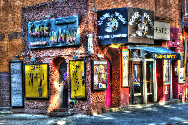City Cafe Wall Art - Photograph - Cafe Wha? by Randy Aveille