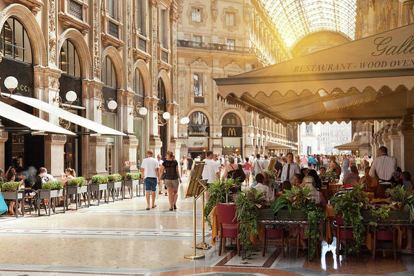 Customer Photograph - Cafes In Ornate Galleria by Cultura Rm Exclusive/walter Zerla