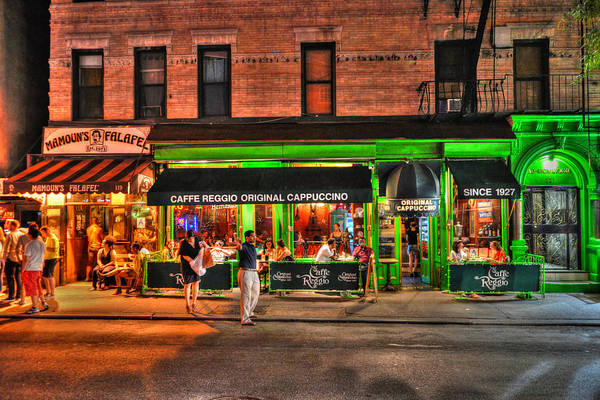 Wall Art - Photograph - Caffe Reggio And Mamouns Falafel In Greenwich Village by Randy Aveille
