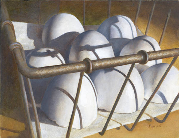 Broken Egg Painting - Caged Audience by Ann Maulucci