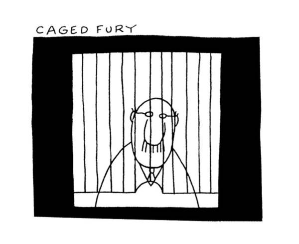 Furies Drawing - Caged Fury by Charles Barsotti
