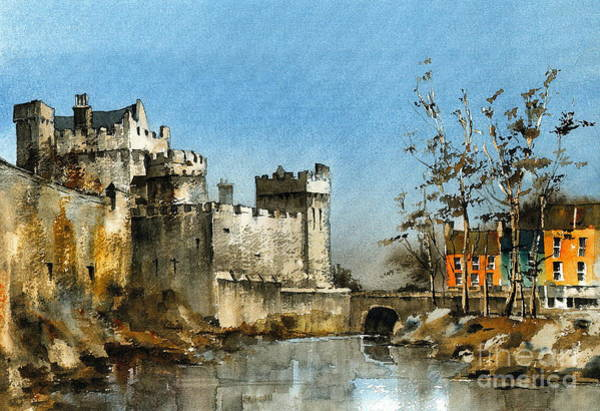 Painting - Cahir Castle  Tipperary by Val Byrne