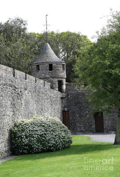 Suir Photograph - Cahir Castle Wall And Tower by Christiane Schulze Art And Photography