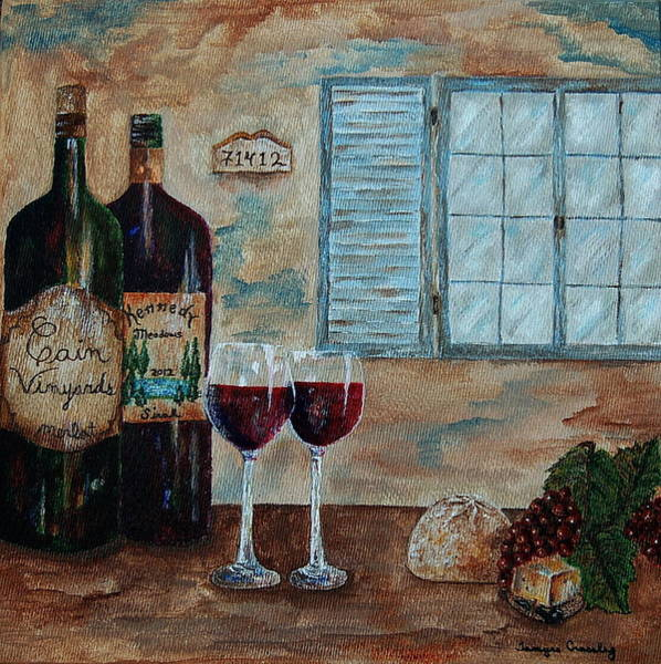 Painting - Cain Vineyards And Kennedy Meadows by Tamyra Crossley