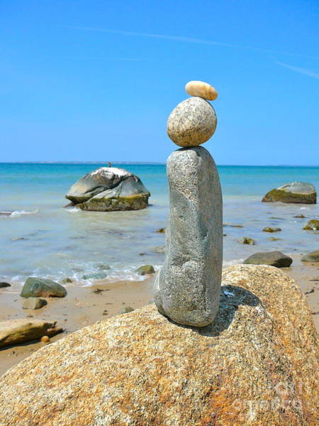 Squid Row Photograph - Cairn On The Beach by Matt Dana