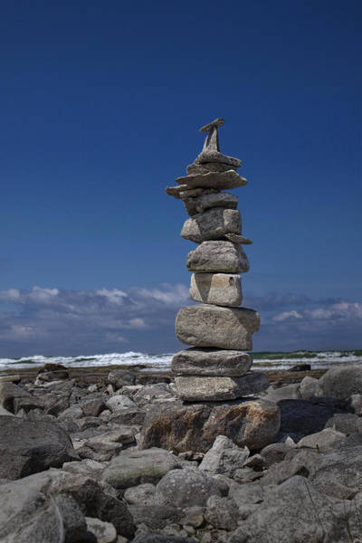 Charlevoix Photograph - Cairn On The Shore Of Lake Michigan by Randall Nyhof