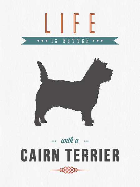 Terrier Digital Art - Cairn Terrier 01 by Aged Pixel