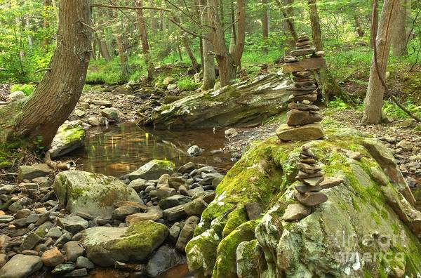 Photograph - Cairns Along The Creek by Adam Jewell