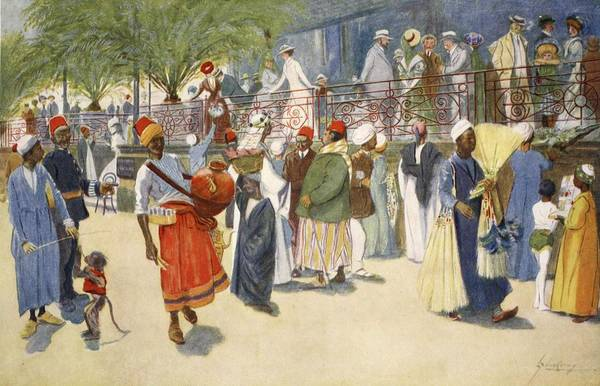 Egypt Drawing - Cairo Curios; Or, The Shepheards Flock by Lance Thackeray