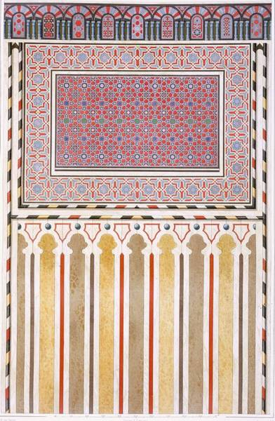 Arabian Drawing - Cairo Decoration Of The El Bordeyny by Emile Prisse d'Avennes