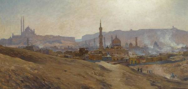Pilgrimage Painting - Cairo Mist Dust And Fumes Evening by Etienne Dinet