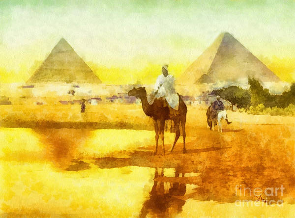 Camel Rider Painting - Cairo by Mo T