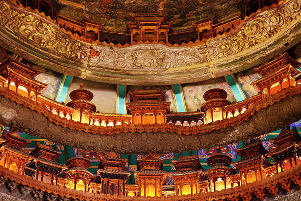 Chinese Pavilion Photograph - Caisson Ceiling Of Ancient by Loonger