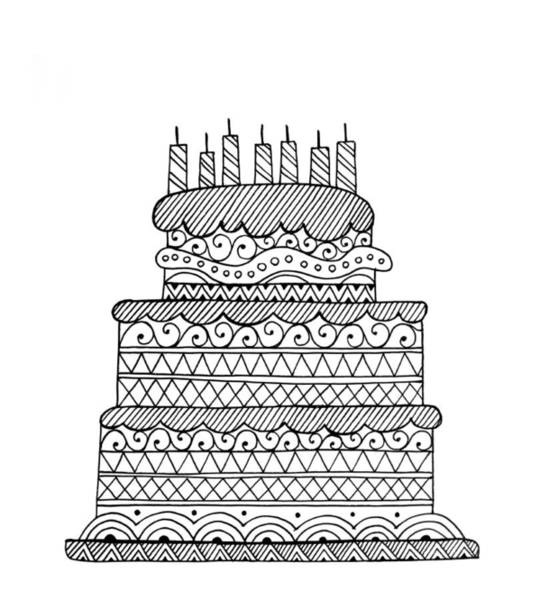 Birthday Drawing - Cake by MGL Meiklejohn Graphics Licensing