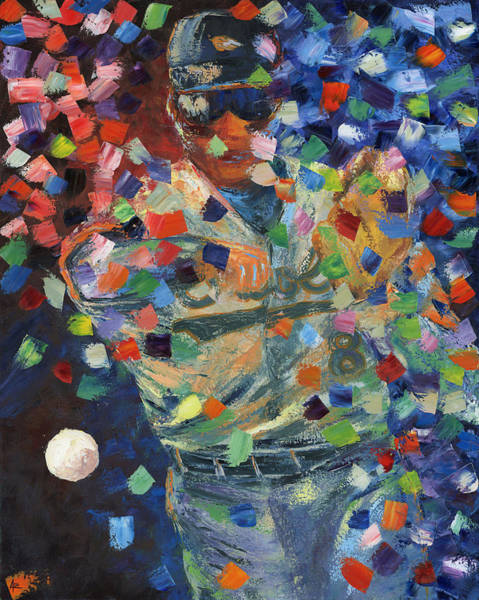 Hitter Painting - Cal Ripken Jr by Ash Hussein