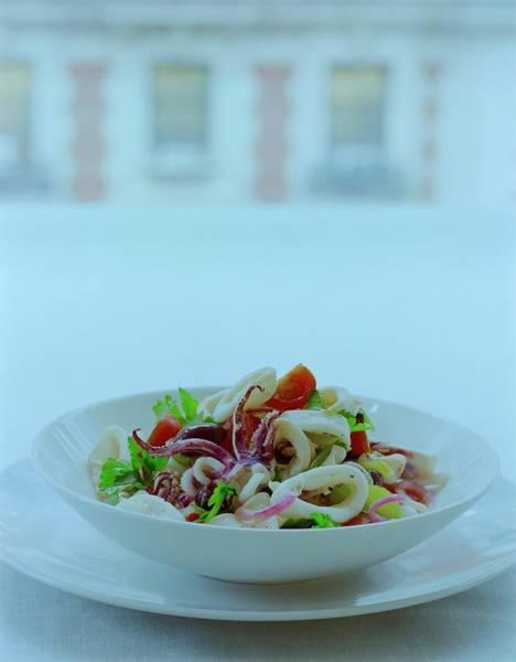 Tomato Photograph - Calamari Salad by Romulo Yanes