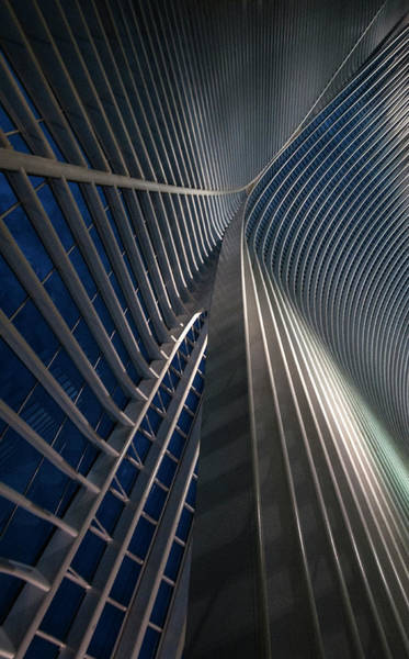 Grid Photograph - Calatrava Lines At The Blue Hour by Jef Van Den