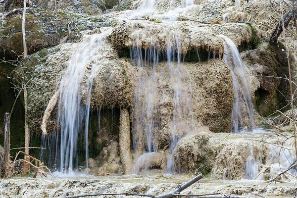Carbonate Photograph - Calcareous Sinter And Waterfall by Dr Juerg Alean