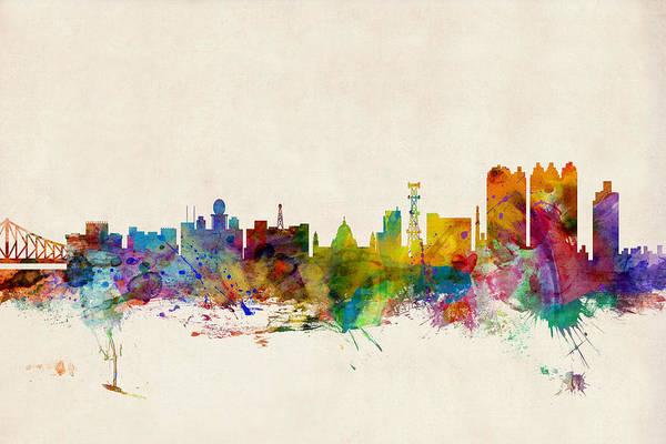 West Indian Wall Art - Digital Art - Calcutta India Skyline by Michael Tompsett