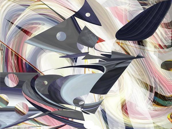 Digital Art - Calder Flight - Fine Art Digital Abstract by rd Erickson