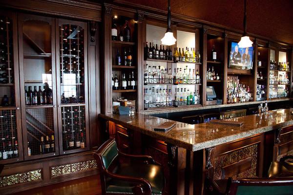 Bolton Landing Wall Art - Photograph - Caldwell's Lobby Bar At The Sagamore by David Patterson