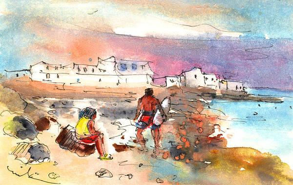 Painting - Caleta De Famara 01 by Miki De Goodaboom