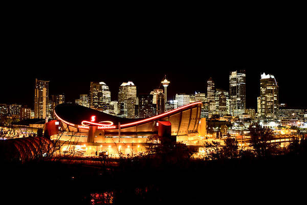 Wall Art - Photograph - Calgary Alberta Canada Skyline by Mark Duffy