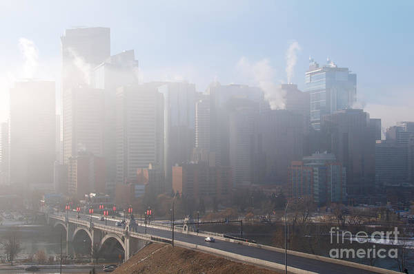Photograph - Calgary Core In Morning Fog by Trever Miller