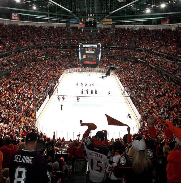 Nhl Photograph - Calgary Flames V Anaheim Ducks - Game by Debora Robinson