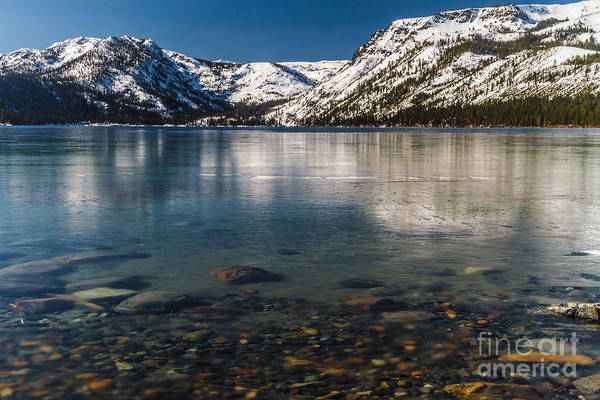 Fallen Leaf Lake Photograph - Calico Ice by Mitch Shindelbower