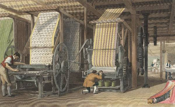 Printing Photograph - Calico Printing Machines by Universal History Archive/uig
