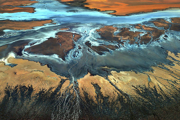 Death Valley Photograph - California Aerial - The Desert From Above by Tanja Ghirardini
