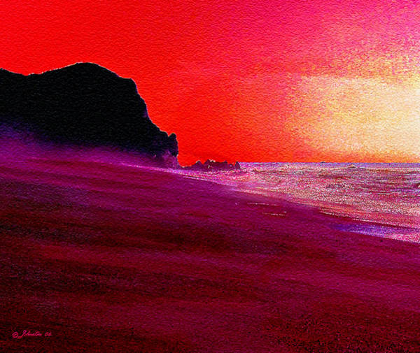 Wall Art - Painting - California Beaches by Bob and Nadine Johnston