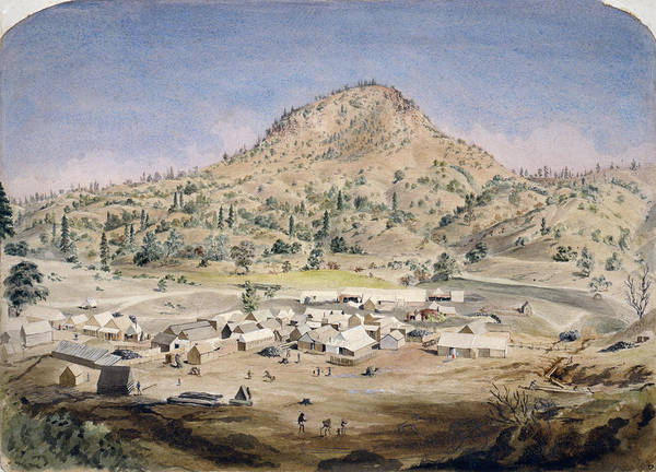 1854 Drawing - California Butte City, C1854 by Granger