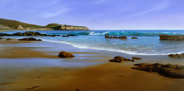 Wave Breaking Painting - California Coast by Cliff Wassmann