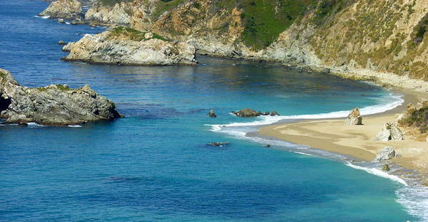 Photograph - California Coastal Seashore by Jeff Lowe