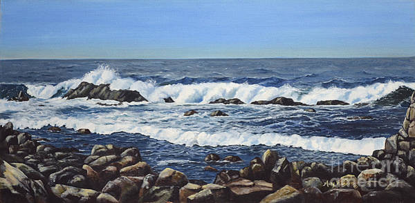 Mary Rogers Painting - California Coastline by Mary Rogers