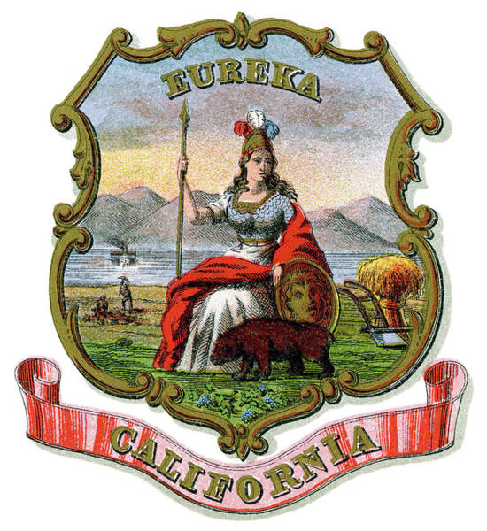 Eureka Painting - California Coat Of Arms by Granger