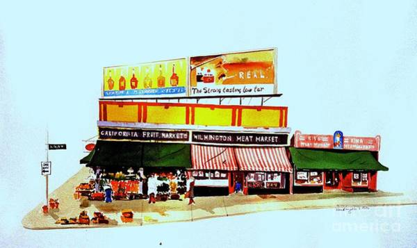 California Fruit Market Art Print