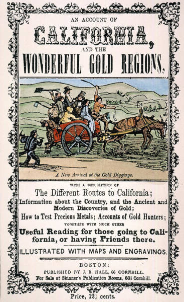 Forty Painting - California Gold Rush Guide by Granger