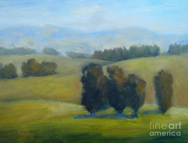 Painting - California Hills Late February by Carolyn Jarvis