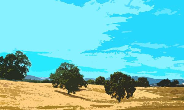 Digital Art - California Hills by Tim Ernst