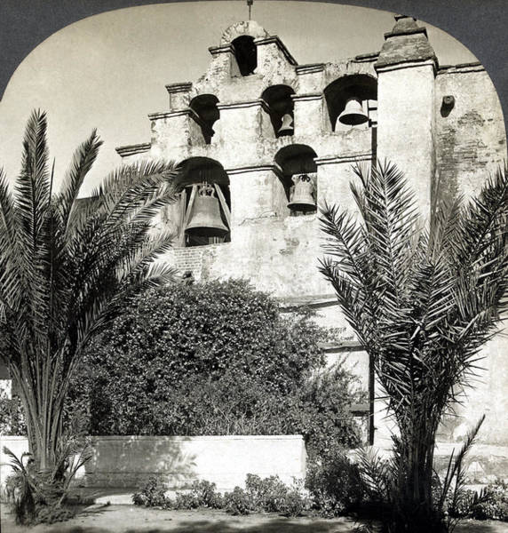 San Gabriel Mission Photograph - California Mission, C1909 by Granger