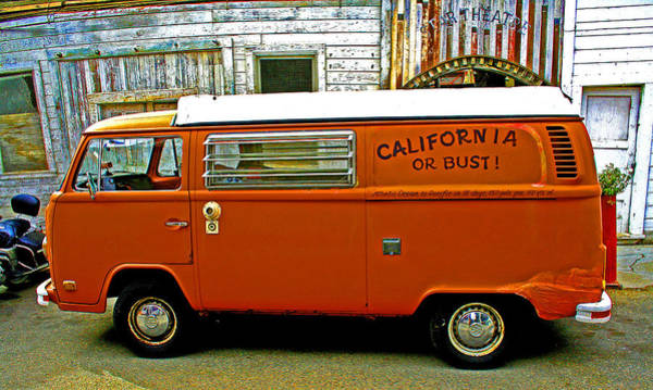 Photograph - California Or Bust by Joseph Coulombe