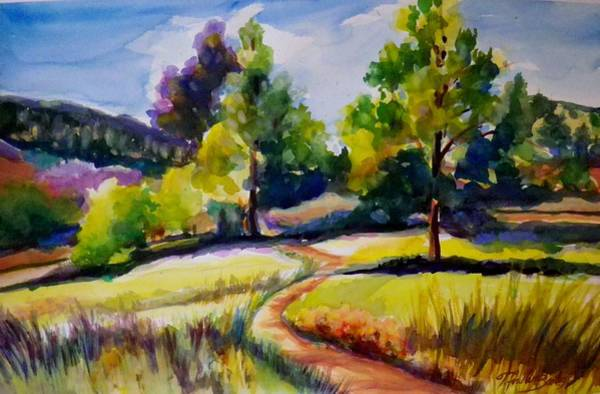 Alpine Meadow Painting - California Plein Air Sold by Therese Fowler-Bailey