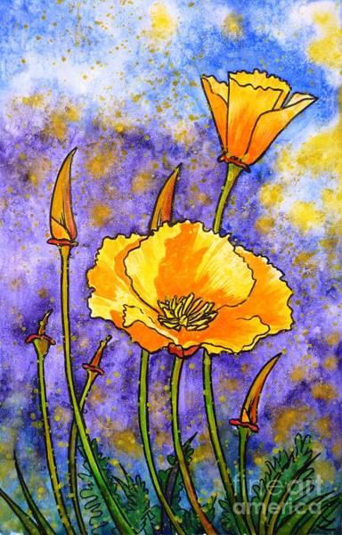Painting - California Poppies by Zaira Dzhaubaeva