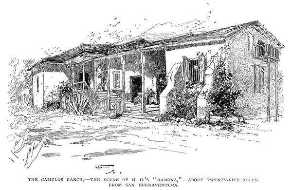 Drawing - California Ranch by Granger