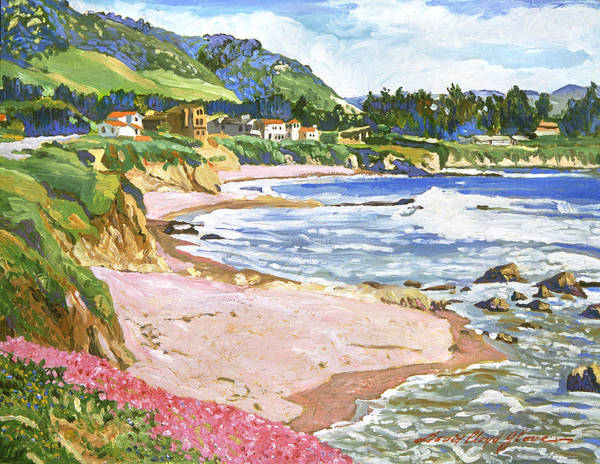 Bluffs Painting - California Shores by David Lloyd Glover