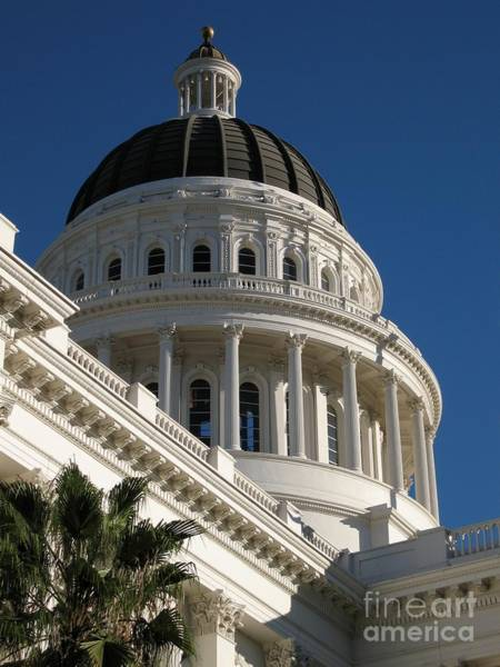 Photograph - California State Capitol Dome by James B Toy