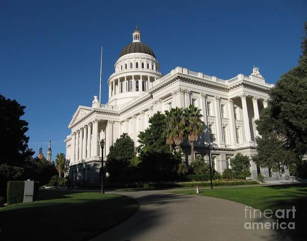 Photograph - California State Capitol by James B Toy